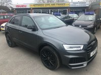 2017 AUDI Q3 2.0 TDI QUATTRO BLACK EDITION 5 DOOR AUTOMATIC 182 BHP IN METALLIC GREY/BLACK WITH ONLY 19000 MILES IN IMMACULATE CONDITION. £24499.00
