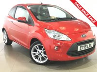 USED 2016 16 FORD KA 1.2 TITANIUM 3d 69 BHP 1 OWNER | PAN ROOF | LEATHER |