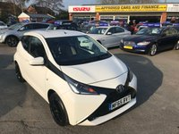 2015 TOYOTA AYGO 1.0 VVT-I X-PLAY 5d 69 BHP IN METALLIC WHITE WITH ONLY 37,000 MILES AND A FULL SERVICE HISTORY £5799.00