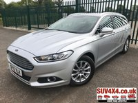 USED 2015 15 FORD MONDEO 2.0 ZETEC ECONETIC TDCI 5d 148 BHP SAT NAV ONE OWNER FSH SATELLITE NAVIGATION. STUNNING SILVER MET WITH BLACK CLOTH TRIM. CRUISE CONTROL. 16 INCH ALLOYS. COLOUR CODED TRIMS. PRIVACY GLASS. BLUETOOTH PREP. CLIMATE CONTROL. TRIP COMPUTER. R/CD PLAYER. 6 SPEED MANUAL. MFSW. MOT 04/20. ONE OWNER FROM NEW. FULL SERVICE HISTORY. SUV & 4X4 CAR CENTRE LS23 7FR. TEL 01937 849492 OPTION 2