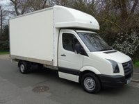 USED 2011 60 VOLKSWAGEN CRAFTER CR35 2.5TDI BLUE 108 BHP LWB LUTON VAN +NO VAT+ MOTORWAY MILEAGE+