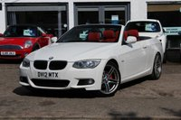 USED 2012 12 BMW 3 SERIES 320D M SPORT 2.0 D  CONVERTIBLE  2d 181 BHP ONLY 25,000 MILES * FSH * FULL LEATHER * CRUISE * XENONS * IPOD