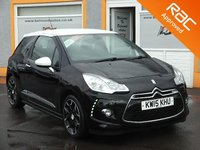 "USED 2015 15 CITROEN DS3 1.6 BLUEHDI DSIRE 3d 120 BHP 17"" Alloys, Twin exhaust Chrome Pipes, LED Daytime Running Lights"