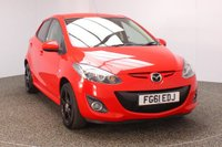 USED 2012 12 MAZDA 2 1.3 BLACK 5DR 83 BHP £30 ROAD TAX £30 12 MONTHS ROAD TAX + AIR CONDITIONING + RMULTI FUNCTION WHEEL + ELECTRIC WINDOWS + ELECTRIC MIRRORS + RADIO/CD/AUX + 15 INCH ALLOY WHEELS