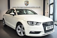 USED 2015 15 AUDI A3 1.6 TDI SPORT 4DR 109 BHP *NO ADMIN FEES* FINISHED IN STUNNING AMALFI WHITE WITH GREY CLOTH UPHOLSTERY + BLUETOOTH + HEATED ELECTRIC MIRRORS + DAB RADIO + MULTI FUNCTION STEERING WHEEL + AIR CONDITIONING + AUTO STOP/START + 17 INCH ALLOY WHEELS