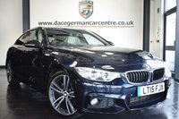 USED 2015 15 BMW 4 SERIES GRAN COUPE 3.0 430D M SPORT GRAN COUPE 4DR AUTO 255 BHP full service history  *NO ADMIN FEES* FINISHED IN STUNNING CARBON METALLIC BLACK WITH FULL IVORY WHITE LEATHER INTERIOR + FULL SERVICE HISTORY + PRO SATELLITE NAVIGATION + HARMAN/KARDON SOUND SYSTEM + M SPORT PACKAGE + REVERSE CAMERA WITH PARKING SENSORS + HEATED SPORT SEATS + XENON LIGHTS + LIGHT PACKAGE + ALLOY WHEELS