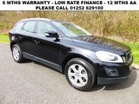 USED 2009 59 VOLVO XC60 2.4 D DRIVE SE LUX PREMIUM 5d 175 BHP All retail cars sold are fully prepared and include - Oil & filter service, 6 months warranty, minimum 6 months Mot, 12 months AA breakdown cover, HPI vehicle check assuring you that your new vehicle will have no registered accident claims reported, or any outstanding finance, Government VOSA Mot mileage check. Because we are an AA approved dealer, all our vehicles come with free AA breakdown cover and a free AA history check.. Low rate finance available. Up to 3 years warranty available.