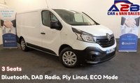 2016 RENAULT TRAFIC 1.6 SL27 BUSINESS ENERGY DCI 125 BHP, 3 Seats, Bluetooth, DAB Radio, Ply Lined, ECO Mode, USB £8980.00