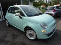 USED 2015 15 FIAT 500 1.2 VINTAGE 57 3d 69 BHP *SPECIAL EDITION* *RARE SPECIAL EDITION VINTAGE 57* Low Mileage, Service History + Serviced by ourselves, One Owner from new, Minimum 8 months MOT, Excellent fuel economy! ZERO Road Tax!