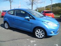 USED 2010 59 FORD FIESTA 1.4 ZETEC 16V 3d AUTO 96 BHP FULL SERVICE HISTORY, ALLOYS, AIR CON,  PART EXCHANGE TO CLEAR, LOW INSURANCE GROUP,