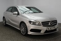 USED 2013 63 MERCEDES-BENZ A-CLASS 1.6 A200 BLUEEFFICIENCY AMG SPORT 5DR 156 BHP HALF LEATHER SEATS + ACTIVE PARK ASSIST + BLUETOOTH + PARKING SENSOR + CRUISE CONTROL + MULTI FUNCTION WHEEL + AIR CONDITIONING + RADIO/CD + ELECTRIC WINDOWS + RADIO/CD/AUX/USB + ELECTRIC MIRRORS + 18 INCH ALLOY WHEELS