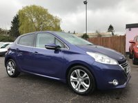 2014 PEUGEOT 208 1.6 ALLURE 5d AUTOMATIC WITH FULL MAIN DEALER SERVICE HISTORY £6000.00