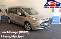 2015 FORD GRAND TOURNEO CONNECT 1.6 TITANIUM TDCI 115 BHP, Low Mileage (33721) Full Service History (3 Stamps) 7 Seats, NO VAT TO PAY, Long Wheel Base, Air Conditioning, Bluetooth, DAB Radio £12480.00