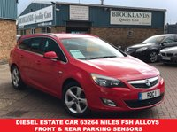 USED 2012 12 VAUXHALL ASTRA 2.0 SRI CDTI S/S Estate Power Red 163 BHP Diesel Estate Car 63264 miles FSH Alloys Front & Rear Parking Sensors
