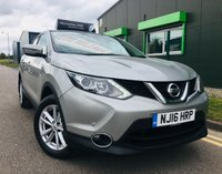 2016 NISSAN QASHQAI 1.5 DCI ACENTA SMART VISION 5 DOOR WITH ONLY 26,000 MILES £11995.00