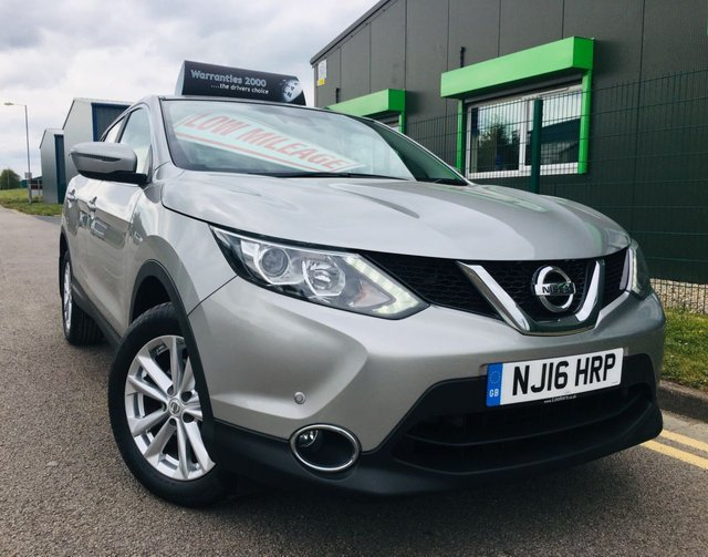 USED 2016 16 NISSAN QASHQAI 1.5 DCI ACENTA SMART VISION 5 DOOR WITH ONLY 26,000 MILES