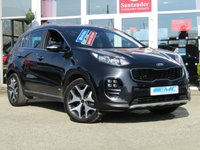 USED 2016 16 KIA SPORTAGE 2.0 CRDI GT-LINE 5d 134 BHP STUNNING, 1 owner, KIA SPORTAGE GT LINE 2.0 CRDI. Finished in PHANTOM BLACK METALLIC with contrasting FULL HEATED LEATHER trim. This car comes with the balance of Kia 7 year warranty with FSH. The Kia Sportage is one of the best MPV's on the market today, It offers striking looks and makes an ideal family SUV with great specification. Was owned locally by a private owner. Features include Sat Nav, Full heated leather, DAB, Rear View Camera, Cruise and much more.