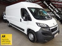"USED 2014 64 PEUGEOT BOXER 2.2 HDI 335 L3H2 PROFESSIONAL P/V 130 BHP LWB VAN ""YOU'RE IN SAFE HANDS"" - AA DEALER PROMISE"