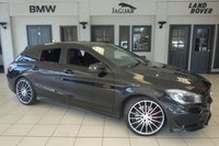USED 2015 65 MERCEDES-BENZ CLA 2.0 CLA250 4MATIC ENGINEERED BY AMG 5d AUTO 208 BHP FINISHED IN KOSMOS BLACK WITH HALF BLACK LEATHER SEATS + FULL MERCEDES BENZ SERVICE HISTORY + SATELLITE NAVIGATION + BI-XENON HEADLIGHTS + 19 INCH ALLOYS + FOUR WHEEL DRIVE + ELECTRIC TAILGATE + NIGHT PACKAGE + BLUETOOTH + CRUISE CONTROL + PARKING SENSORS