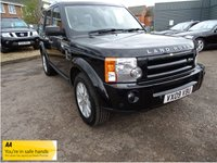 USED 2009 09 LAND ROVER DISCOVERY 2.7 3 TDV6 SE 5d AUTO 188 BHP BLACK LEATHER 7 LANDROVER SERVICE STAMPS COLOUR SAT NAV