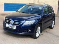 USED 2009 09 VOLKSWAGEN TIGUAN 2.0 SPORT TDI 5d AUTO 138 BHP 2 PREVIOUS KEEPERS *  FULL SERVICE RECORD (10 STAMPS) *  MOT MARCH 2020 *  PRIVACY GLASS *
