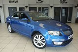 USED 2015 15 SKODA OCTAVIA 2.0 ELEGANCE TDI CR DSG 5d AUTO 148 BHP FINISHED IN A STUNNING RACE BLUE METALLIC WITH HALF BLACK LEATHER SEATS + FULL SKODA SERVICE HISTORY + SATELLITE NAVIGATION + BLUETOOTH + CRUISE CONTROL + 1 OWNER + £30 ROAD TAX + DUEL CLIMATE WITH AUTOMATIC AIR CONDITIONING + DAB RADIO + 17 INCH ALLOYS + PARKING SENSORS