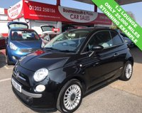 USED 2009 09 FIAT 500 1.2 LOUNGE 3d 69 BHP *ONLY 25,000 MILES*