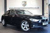 """USED 2014 14 BMW 3 SERIES 2.0 318D SE 4DR 141 BHP full service history  *NO ADMIN FEES* FINISHED IN STUNNING SAPPHIRE METALLIC BLACK WITH FULL BLACK LEATHER INTERIOR + FULL SERVICE HISTORY + SATELLITE NAVIGATION + BLUETOOTH + HEATED SEATS + DAB RADIO + CRUISE CONTROL + RAIN SENSORS + PARKING SENSORS + 17"""" ALLOY WHEELS"""