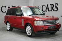 USED 2006 06 LAND ROVER RANGE ROVER 4.2 V8 SUPERCHARGED 5d AUTO 391 BHP This Powerful Supercharged Model has a High Specification and has Been Meticulously Maintained by It's One Previous Lady Owner. Presented in Rimini Red with Fully Ivory Leather Heated/Cooled Seats, Unmarked 20 Inch Alloy Wheels, DVD twin screen rear entertainment system, Harmon Kardon Sound System, Front & Rear Park Distance Control, Electric Sunroof, Bi Xenon Headlights, Heated Windscreen, Powerfold Wing Mirrors, Cruise control and a Leather Multifunction Steering Wheel.