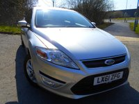 USED 2011 61 FORD MONDEO 2.0 ZETEC 5d 144 BHP ** ONE PREVIOUS OWNER , YES ONLY 67K , NICE VEHICLE THROUGHOUT **