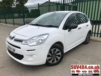 USED 2014 14 CITROEN C3 1.0 VT 5d 67 BHP STUNNING WHITE WITH BLACK CLOTH TRIM. COLOUR CODED TRIMS. R/CD PLAYER. MOT 02/20. ONE PREV OWNER. SERVICE HISTORY. P/X CLEARANCE CENTRE LS23 7FQ TEL 01937 849492 OPTION 4