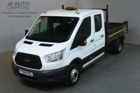 USED 2015 65 FORD TRANSIT 2.2 350 124 BHP LWB D/CAB 7 SEATER TWIN WHEEL COMBI TIPPER REAR BED LENGTH 9 FOOT 2 INCH