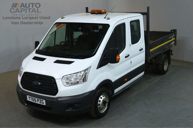 2015 65 FORD TRANSIT 2.2 350 124 BHP LWB D/CAB 7 SEATER TWIN WHEEL COMBI TIPPER REAR BED LENGTH 9 FOOT 2 INCH