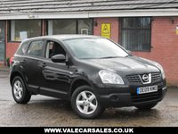 USED 2009 09 NISSAN QASHQAI 1.6 VISIA (BLUETOOTH+LOW MILES) 5dr LOW MILEAGE AND BLUETOOTH CONNECTIVITY