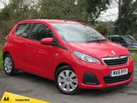 USED 2016 16 PEUGEOT 108 1.0 ACTIVE 5d  ONE OWNER VEHICLE WITH ONLY 8112 MILES