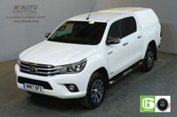 USED 2017 17 TOYOTA HI-LUX 2.4 INVINCIBLE 4WD D-4D DCB AUTO 148 BHP EURO 6 AIR CON SAT NAV AIR CONDITIONING EURO 6