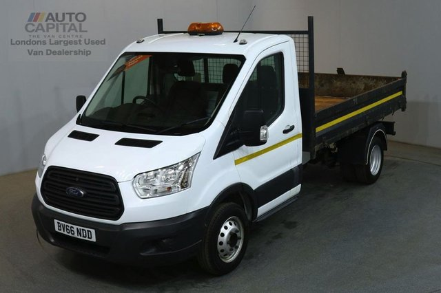 2016 66 FORD TRANSIT 2.2 350 124 BHP MWB TWIN WHEEL RWD TIPPER REAR BED LENGTH 10 FOOT 4 INCH