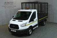 USED 2016 16 FORD TRANSIT 2.2 350 124 BHP MWB S/CAB RWD CAGE TIPPER REAR CAGE BED LENGTH 10.5 FOOT