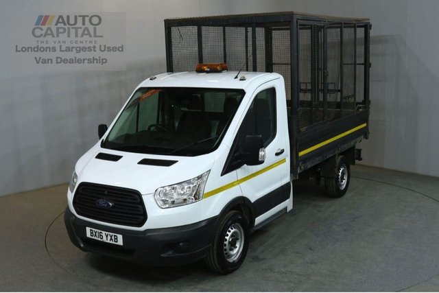2016 16 FORD TRANSIT 2.2 350 124 BHP MWB S/CAB RWD CAGE TIPPER REAR CAGE BED LENGTH 10.5 FOOT