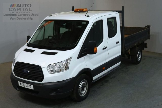 2016 16 FORD TRANSIT 2.2 350 DCB 124 BHP RWD LWB 7 SEATER TIPPER REAR BED LENGTH 6 FOOT 9 INCH