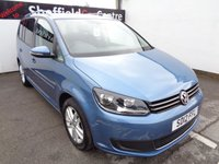 USED 2012 12 VOLKSWAGEN TOURAN 1.6 SE TDI 5d 106 BHP £179 A MONTH 7 SEATS PARKING SENSORS ALLOY WHEELS AIR CON PRIVACY GLASS PRIVACY GLASS FULL SERVICE HISTORY MOT MAR 2020