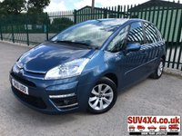 USED 2011 61 CITROEN C4 PICASSO 1.6 VTR PLUS HDI 5STR 5d 110 BHP ALLOYS ONE OWNER FSH STUNNING BLUE MET WITH FULL BLACK CLOTH TRIM. CRUISE CONTROL. 16 INCH ALLOYS. COLOUR CODED TRIMS. PARKING SENSORS. AIR CON. R/CD PLAYER. 6 SPEED MANUAL. MFSW. MOT 09/19. ONE OWNER FROM NEW. FULL SERVICE HISTORY. P/X CLEARANCE CENTRE LS23 7FQ TEL 01937 849492 OPTION 4