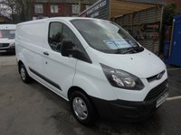 2014 FORD TRANSIT CUSTOM 2.2 TDCI 290 ECO-TECH SHORT WHEEL BASE LOW ROOF P/V, FULL PRINT OUT SERVICE HISTORY, ((( FINANCE AVAILABLE )) £6995.00