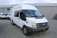 USED 2008 08 FORD TRANSIT 2.4 350 LWB HR DCB JUMBO 1d 115 BHP Factory Seat Conversion, NO VAT, Sat Nav