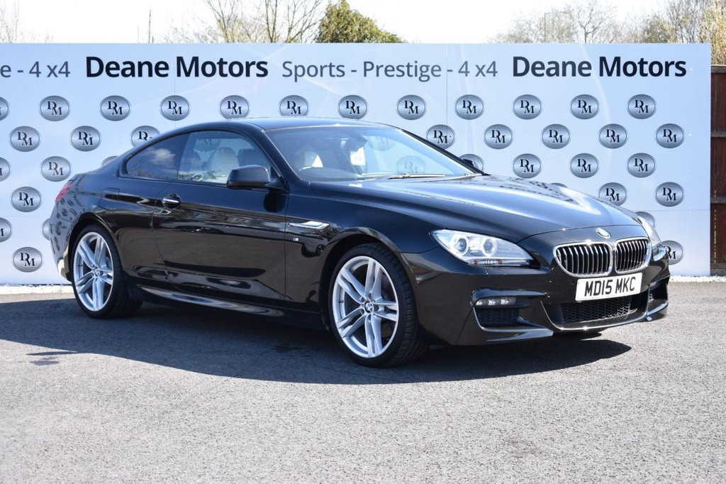 """USED 2015 15 BMW 6 SERIES 3.0 640d M Sport Steptronic 2dr BIG SPECIFICATION  STUNNING 640D 20""""S PRO MEDIA"""
