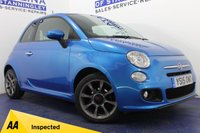 USED 2015 15 FIAT 500 1.2 S 3d 69 BHP 1 OWNER FROM NEW - £30 ROAD TAX - LOW MILES - REAR PARKING SENSORS - HALF LEATHER