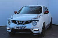 """USED 2017 17 NISSAN JUKE 1.6 NISMO RS DIG-T 5d 215 BHP SATELLITE NAVIGATION, HEATED SEATS, BLUETOOTH, CRUISE CONTRO, AIR CON, DAB RADIO, ALLOYS, ELECTRIC MIRRORS, PRIVACY GLASS, 18"""" WHEELS, CLOTH TRIM, PEARL PAINT"""