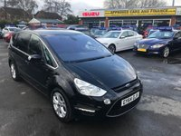 2014 FORD S-MAX 2.0 TITANIUM TDCI 5d AUTO 161 BHP BLACK 73K MILES IN IMMACULATE CONDITION BLUETOOTH £10499.00