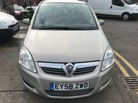 USED 2008 58 VAUXHALL ZAFIRA 1.6 EXCLUSIV 5d 105 BHP CLEARANCE CAR