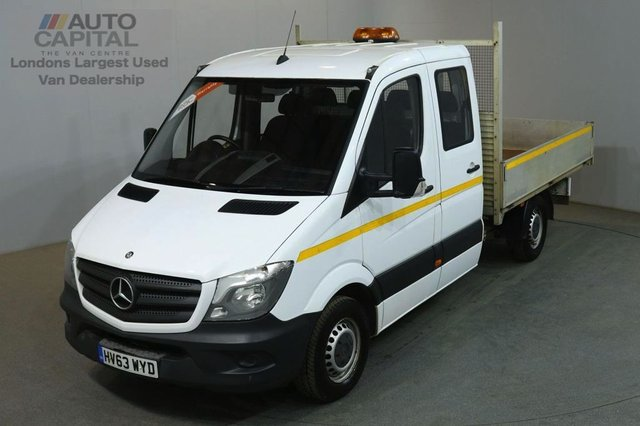 2013 63 MERCEDES-BENZ SPRINTER 2.1 313 CDI D/CAB MWB 129 BHP 6 SEATER DROPSIDE REAR BED LENGTH 9 FOOT 3 INCH